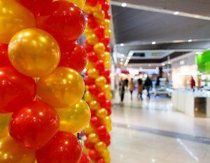 Globos en la decoración de eventos promocionales