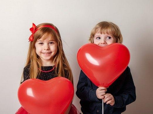 Globos publicitarios con forma de corazón