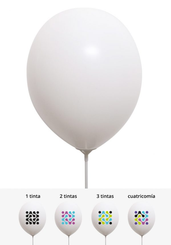 Globos pastel color nieve