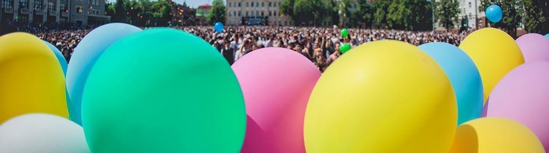 Globos grandes para eventos de exterior